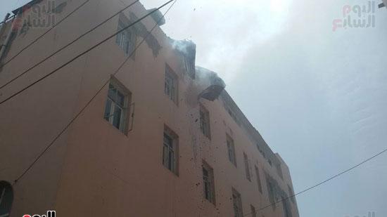 مدير أمن الغربية يتفقد اثار حريق مستشفى المبرة  (1)