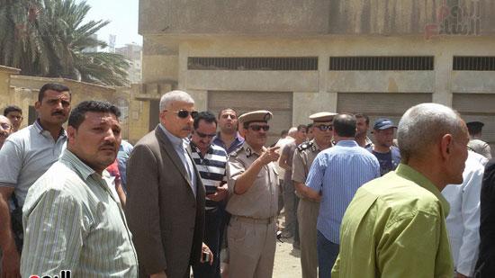 مدير أمن الغربية يتفقد اثار حريق مستشفى المبرة  (3)
