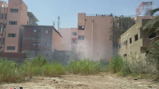 مدير أمن الغربية يتفقد اثار حريق مستشفى المبرة  (5)
