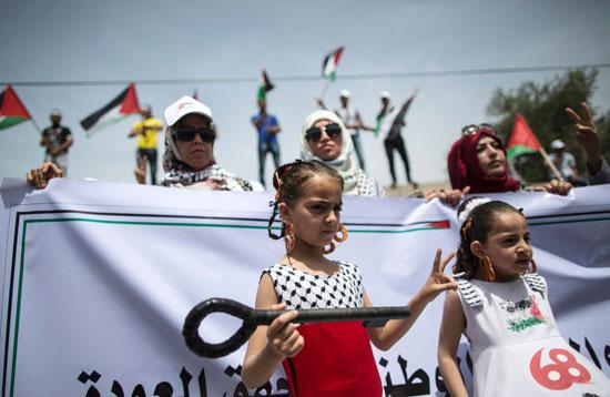 الفلسطينيون يحيون الذكرى الـ68 للنكبه (10)