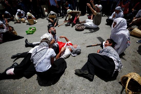 الفلسطينيون يحيون الذكرى الـ68 للنكبه (4)