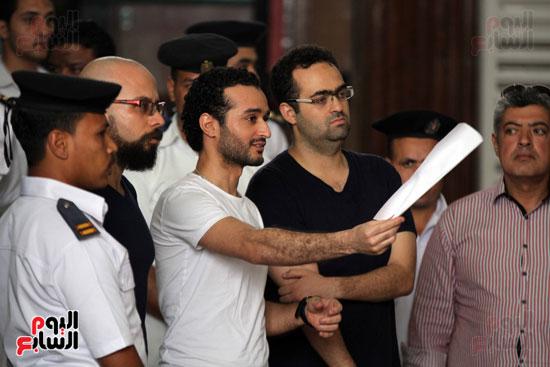 محاكمة أحمد دومة ومحمد عادل (5)