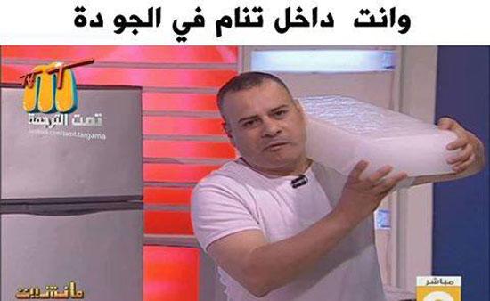 سخرية الإعلامى جابر القرموطى من الحر (6)
