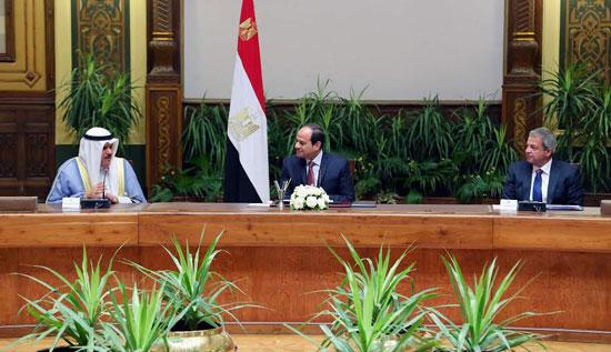 الرئيس السيسي خلال لقاء وزراء الرياضة العرب  (1)
