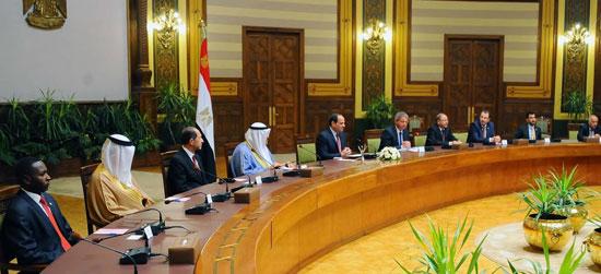 الرئيس السيسي خلال لقاء وزراء الرياضة العرب  (2)