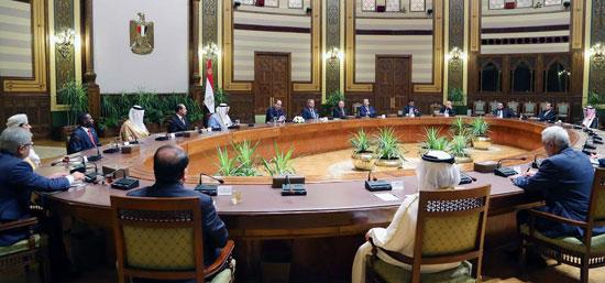 الرئيس السيسي خلال لقاء وزراء الرياضة العرب  (4)