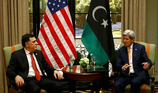 كيرى يلتقى رئيس الوزراء الليبى فى فيينا (6)