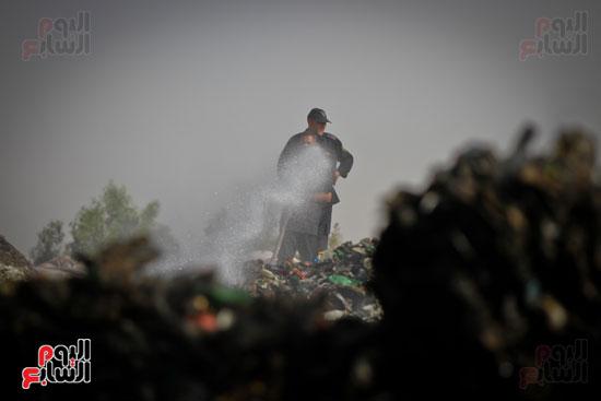 حريق مخزن بلاستيك (15)