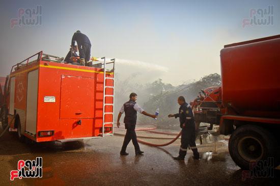 حريق مخزن بلاستيك (23)