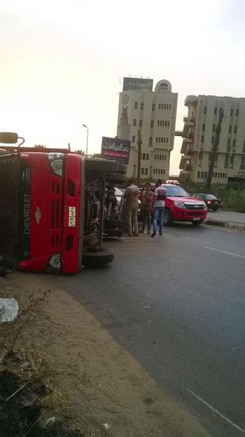المنصورة ، أكاديمية مصر ، الطريق الدارئرى بالمنصورة ، حادث (3)
