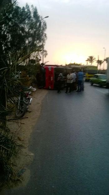 المنصورة ، أكاديمية مصر ، الطريق الدارئرى بالمنصورة ، حادث (4)