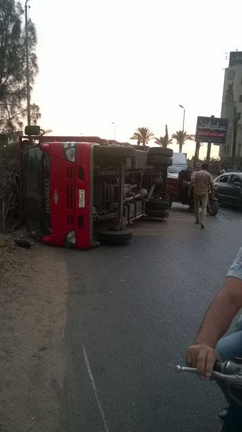 المنصورة ، أكاديمية مصر ، الطريق الدارئرى بالمنصورة ، حادث (7)