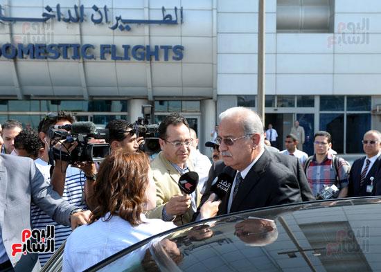 مؤتمر صحفى لرئيس الوزراء حول الطائره المفقودة (4)