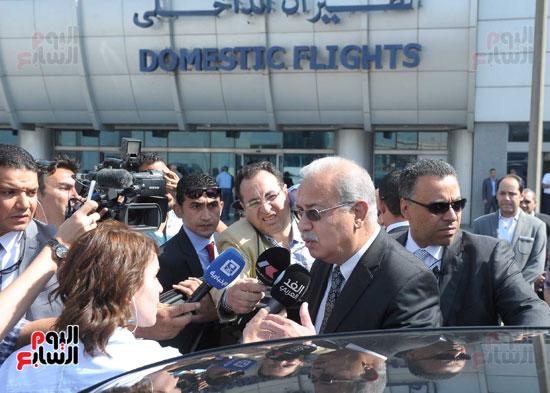 مؤتمر صحفى لرئيس الوزراء حول الطائره المفقودة (7)