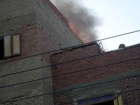 حريق بمنزل فى مدينة الخارجة (1)
