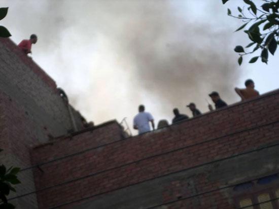 حريق بمنزل فى مدينة الخارجة (2)