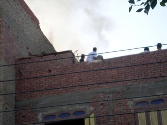 حريق بمنزل فى مدينة الخارجة (3)