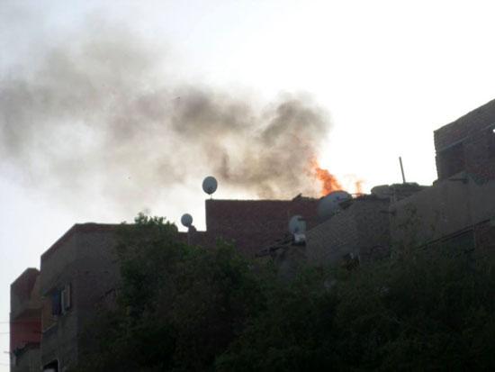 حريق بمنزل فى مدينة الخارجة (5)
