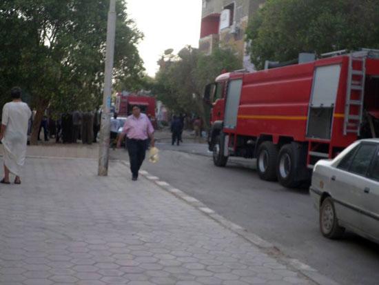 حريق بمنزل فى مدينة الخارجة (7)