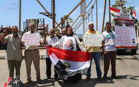 متظاهرو القائد إبراهيم ينعون ضحايا الطائرة المنكوبة (2)