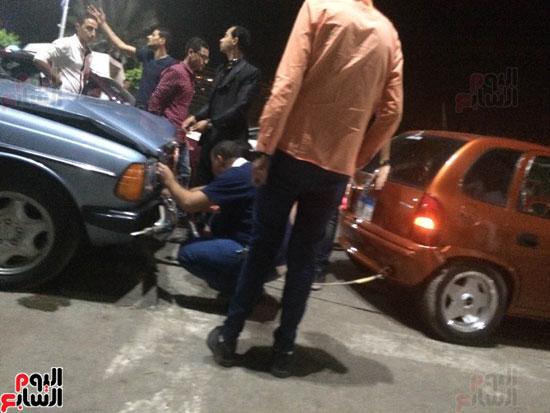 اصطدام 26 سيارة أثناء زفة عروسين بالدقهلية (4)