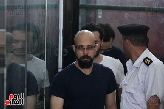 محاكمة أحمد دومة ومحمد  عادل واحمد ماهر (1)