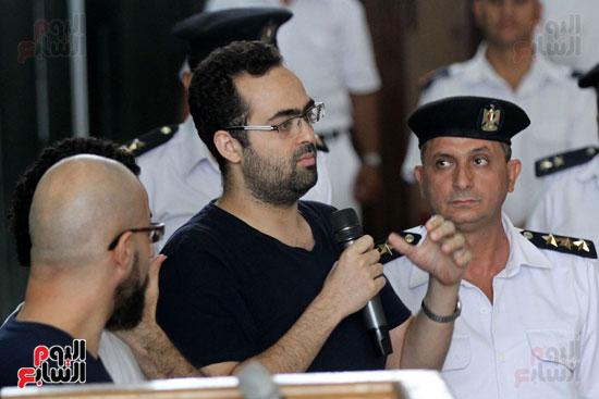 محاكمة أحمد دومة ومحمد  عادل واحمد ماهر (10)