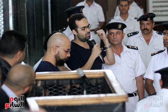 محاكمة أحمد دومة ومحمد  عادل واحمد ماهر (11)