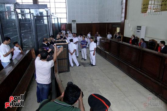 محاكمة أحمد دومة ومحمد  عادل واحمد ماهر (12)