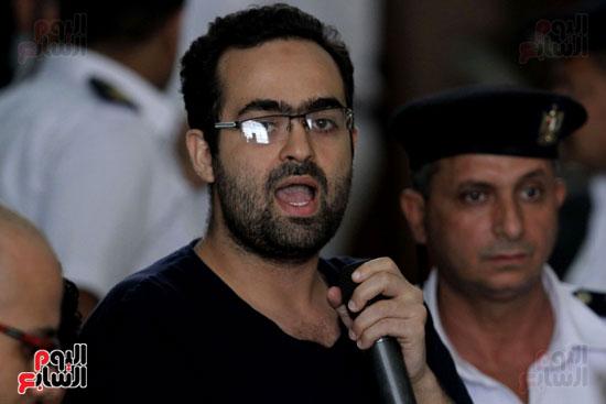 محاكمة أحمد دومة ومحمد  عادل واحمد ماهر (13)