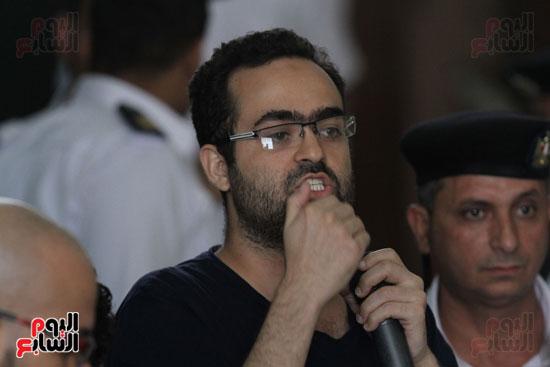 محاكمة أحمد دومة ومحمد  عادل واحمد ماهر (14)