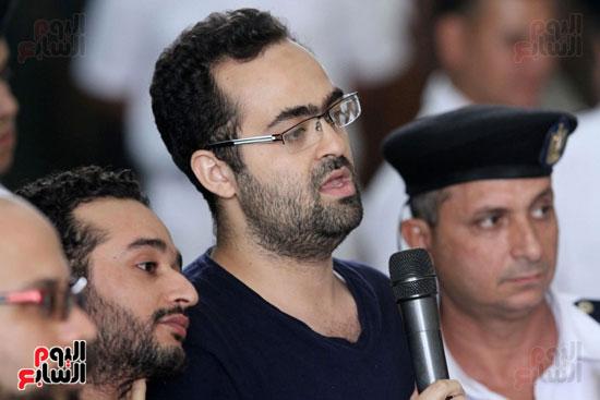 محاكمة أحمد دومة ومحمد  عادل واحمد ماهر (15)