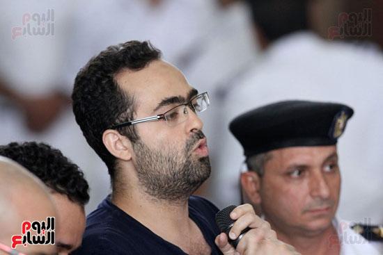 محاكمة أحمد دومة ومحمد  عادل واحمد ماهر (16)