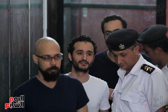 محاكمة أحمد دومة ومحمد  عادل واحمد ماهر (2)