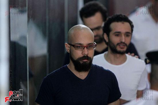 محاكمة أحمد دومة ومحمد  عادل واحمد ماهر (3)