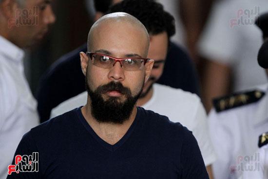 محاكمة أحمد دومة ومحمد  عادل واحمد ماهر (5)