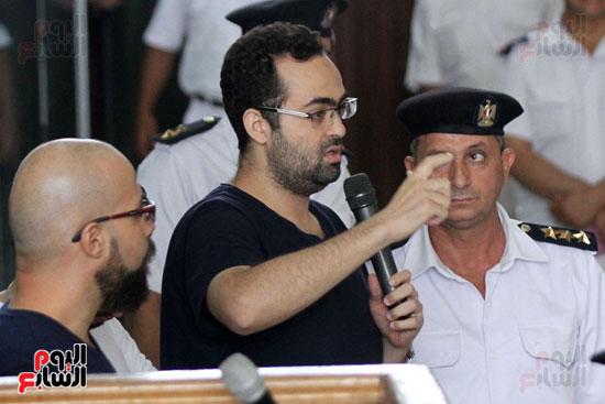 محاكمة أحمد دومة ومحمد  عادل واحمد ماهر (6)