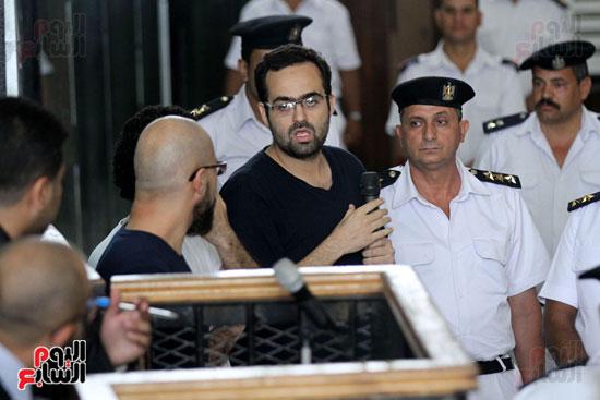 محاكمة أحمد دومة ومحمد  عادل واحمد ماهر (9)