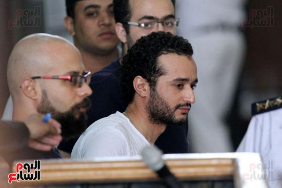محاكمة أحمد دومة ومحمد  عادل واحمد ماهر (17)