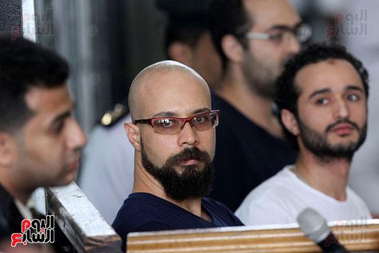 محاكمة أحمد دومة ومحمد  عادل واحمد ماهر (18)