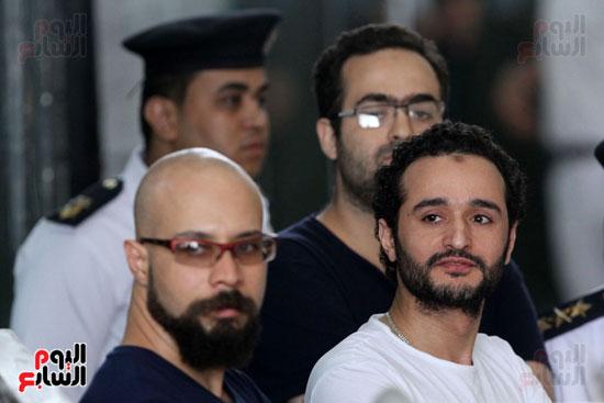 محاكمة أحمد دومة ومحمد  عادل واحمد ماهر (19)