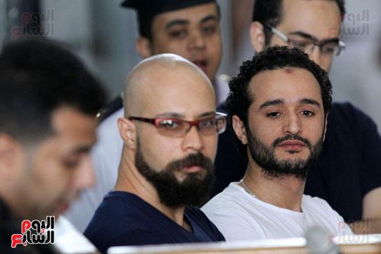 محاكمة أحمد دومة ومحمد  عادل واحمد ماهر (20)