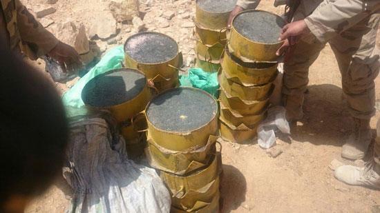 مقتل 13 إرهابيا وضبط 145 لغما فى وسط سيناء وجبل الحلال (4)