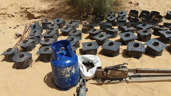 مقتل 13 إرهابيا وضبط 145 لغما فى وسط سيناء وجبل الحلال (11)