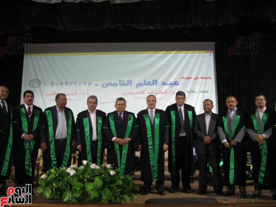 وزير التعليم العالى يكرم رؤساء جامعة بنى سويف السابقين (4)