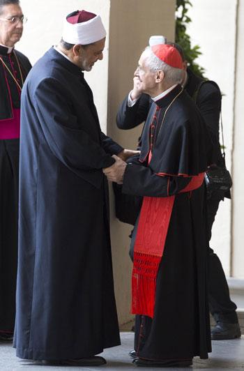 البابا فرنسيس والإمام الأكبر أحمد الطيب  (3)