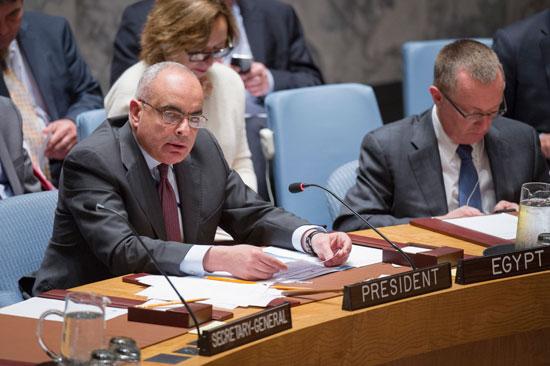 مصر ترأس اجتماعاً تشاورياً بين مجلسى الأمن الدولي والسلم الإفريقي (1)
