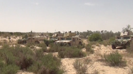مقتل 16 إرهابيا وتفكيك 24 عبوة ناسفة واكتشاف ملاجئ للإرهابيين بسيناء (1)