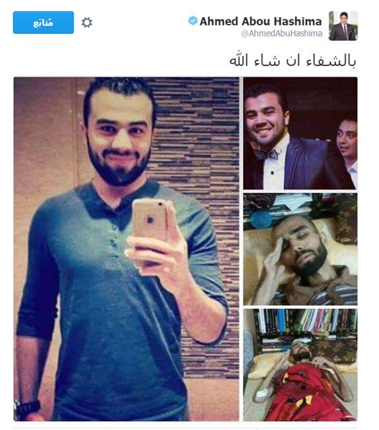 أبو هشيمة يعلن تكفله بعلاج الشاب عبد الرحمن المصاب بالسرطان ببنى سويف (2)