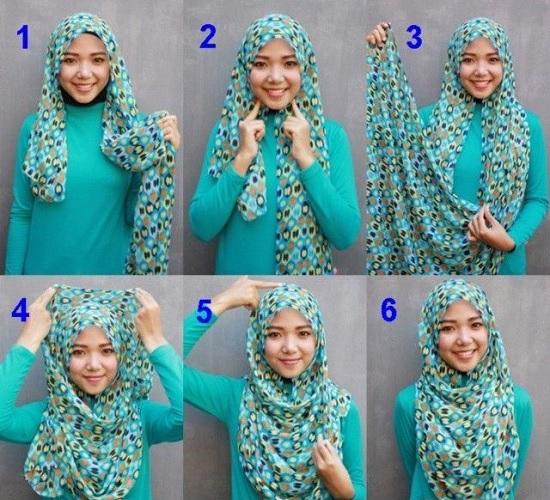 لفات حجاب سهلة ـ لفات حجاب بالخطوات ـ لفات حجاب جديدة  ـ لفات طرح (1)